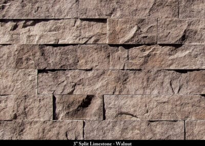 3in Split Limestone Stone Veneer Walnut