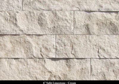 6in Split Limestone Manufactured Stone Cream