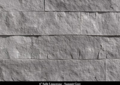 6in Split Limestone Manufactured Stone Summit Grey