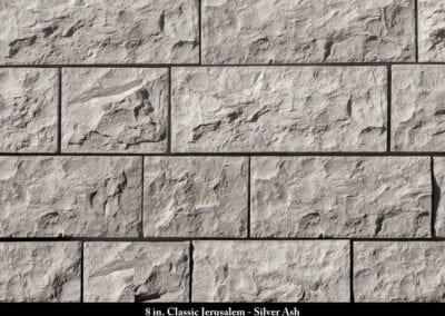 8in Classic Jerusalem Manufactured Stone Silver Ash