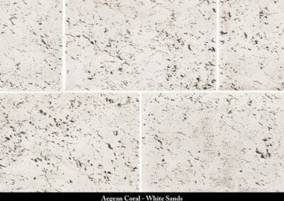Aegean Coral Manufactured Stone White Sands