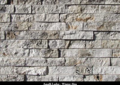 Amalfi Ledge Manufactured Stone Winter Alps