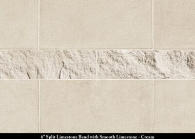 Band 6in Split Limestone Smooth Limestone Stone Veneer Cream
