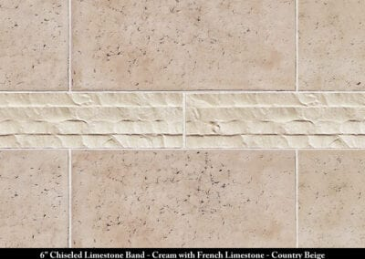 Band Chiseled Limestone French Limestone Stone Veneer Cream Country Beige