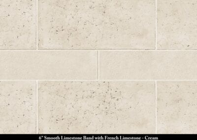 Band Smooth Limestone French Limestone Stone Veneer Cream