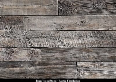 Barn Wood Stone Manufactured Stone Rustic Farmhouse