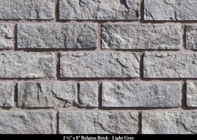 Belgian Brick Thin Brick Veneer Light Grey