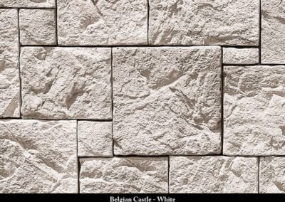 Belgian Castle Manufactured Stone White