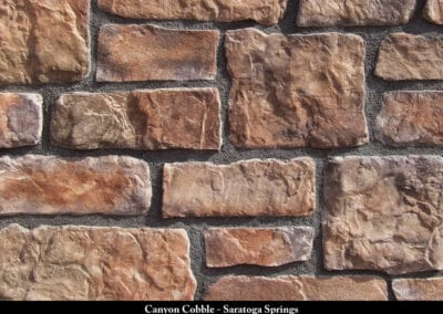 Canyon Cobble Manufactured Stone Saratoga Springs
