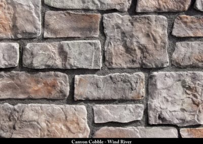Canyon Cobble Manufactured Stone Wind River