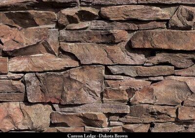 Canyon Ledge_Stone Veneer Dakota Brown