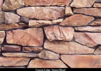 Canyon Ledge Stone Veneer Sunset Blend