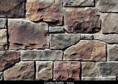 Carolina Rubble Manufactured Stone Aspen