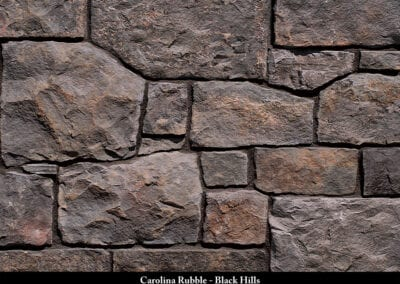 Carolina Rubble Manufactured Stone Black Hills
