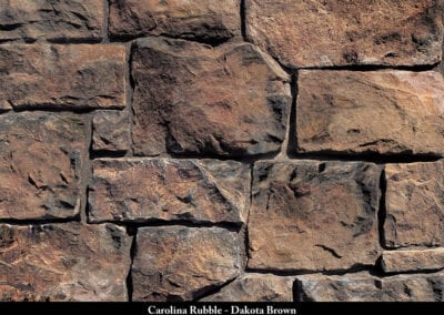 Carolina Rubble Manufactured Stone Dakota Brown