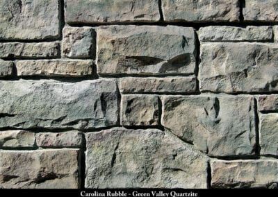 Carolina Rubble ManufacturedStone Green Valley Quartzite