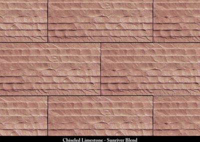 Chiseled Limestone Manufactured Stone Sunriver Blend