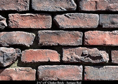 Clinker Brick Thin Brick Veneer Antique Red
