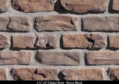 Clinker Brick Thin Brick Veneer Brown Blend