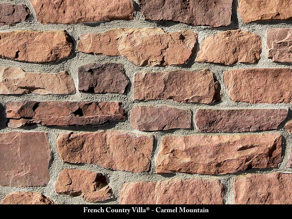 French Country Villa Stone Veneer Carmel Mountain