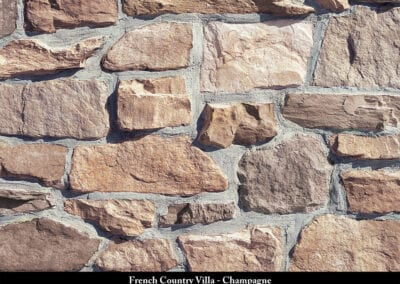 French Country Villa Stone Veneer Champagne