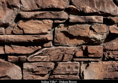 Italian Villa Stone Veneer Dakota Brown