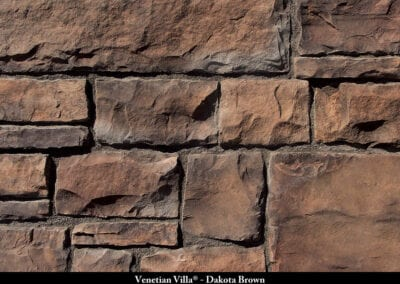 Venetian Villa Manufactured Stone Dakota Brown