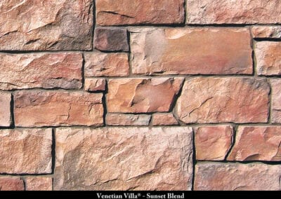Venetian Villa Manufactured Stone Sunset Blend