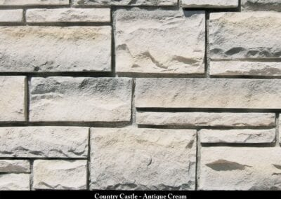Country Castle Manufactured Stone Antique Cream