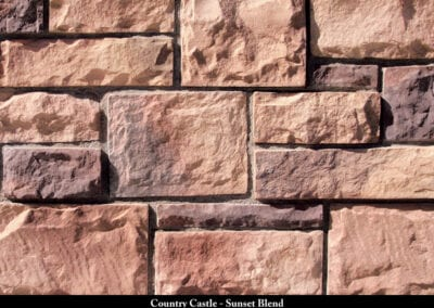 Country Castle Manufactured Stone Sunset Blend