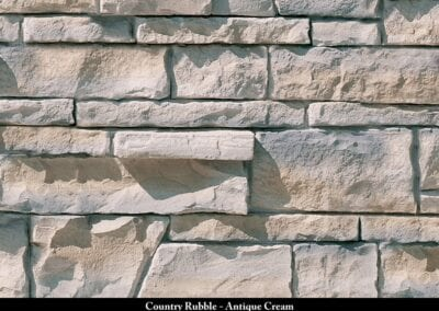 Country Rubble Manufactured Stone Antique Cream