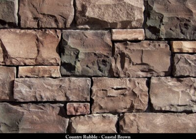 Country Rubble Manufactured Stone Coastal Brown