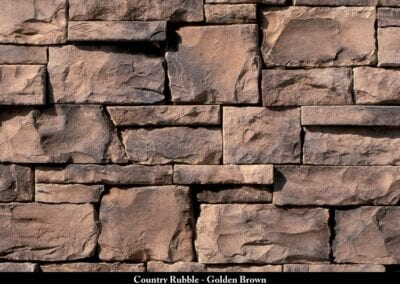 Country Rubble Manufactured Stone Golden Brown