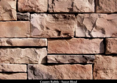Country Rubble Manufactured Stone Sunset Blend
