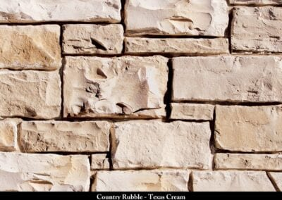 Country Rubble Manufactured Stone Texas Cream