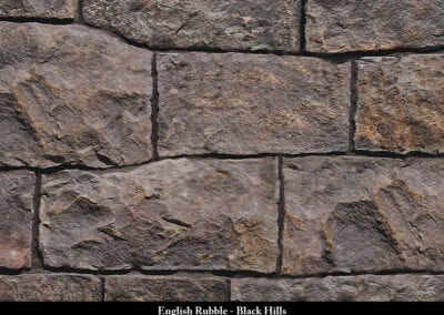 English Rubble Manufactured Stone Black Hills