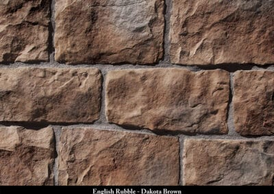 English Rubble Manufactured Stone Dakota Brown