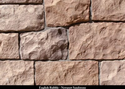 English Rubble Manufactured Stone Newport Sandstone