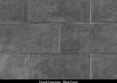 French Limestone Manufactured Stone Black Forest