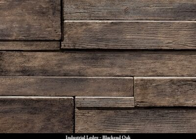 Industrial Ledge Manufactured Stone Blackend Oak