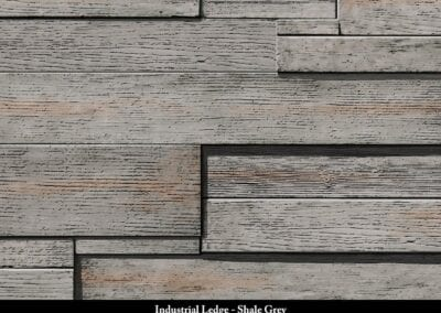 Industrial Ledge Manufactured Stone Shale Grey