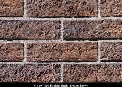 New England Brick Thin Brick Veneer Dakota Brown