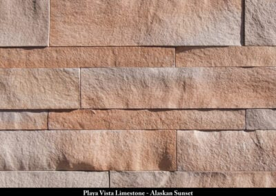 Playa Vista Limestone Manufactured Stone Alaskan Sunset