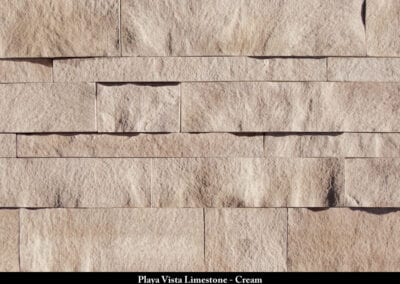 Playa Vista Limestone Manufactured Stone Cream