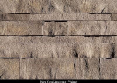 Playa Vista Limestone Manufactured Stone Walnut