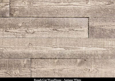 Rough Cut Wood Stone Manufactured Stone Antique White