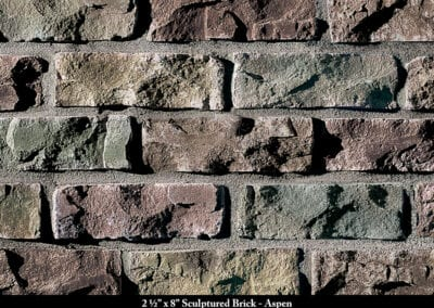 Sculptured Brick Thin Brick Veneer Aspen