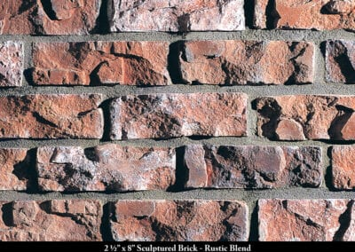 Sculptured Brick Thin Brick Veneer Rustic Blend