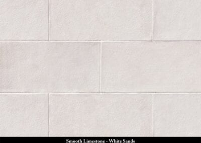 Smooth Limestone Manufactured Stone White Sands