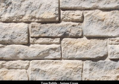 Texas Rubble Manufactured Stone Antique Cream